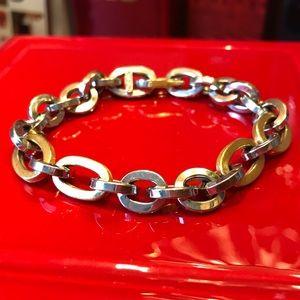 Vintage UnoAerre 18KT solid gold two tone bracelet